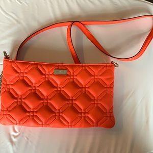 Kate Spade New York Quilted Orange Crossbody Bag